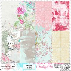 Shabby Chic Paper love these $2.39 on sale now by Studio Rosey Posey