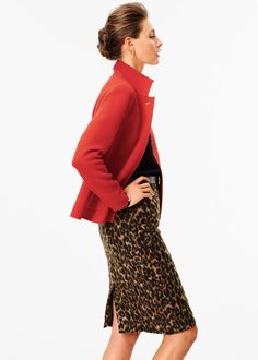 Talbots Fashion Images & Assets for Your Publication or Website Winter Fashion 2014, Autumn Fashion, Work Fashion, Fashion Looks, What To Wear Tomorrow, Animal Print Skirt, Professional Attire, Fashion Images, Timeless Fashion