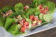 Watermelon, Radish and Avocado Tacos