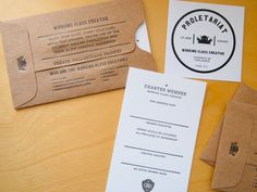 Kraft sleeve for gift certificate | by   Working Class Creative *brilliant*