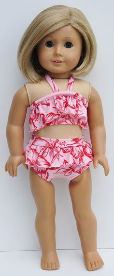 American Girl Clothes  Bathing Suit in by LoriLizGirlsandDolls, $15.00   cute!