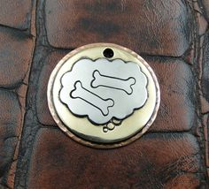 ID Dog Tag Bones by IslandTopCustomTags on Etsy