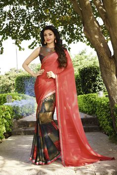 Buy Online Designer Printed Sarees, shari, Ethnic sarees, Brown, Grey and Salmon Color, Saree, sari, casual wear, partywear, kitty party wear, for women. We have large range of Designer Printed Georgette and Jacquard Sarees in our website with the best pricing and unique designs shipping to (UK, USA, India, Germany, UAE, Canada, Singapore, Australia, Mauritius, New Zealand) world wide.