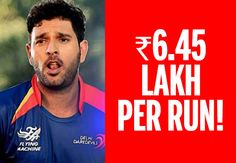 Yeah, you heard that righ! Lakhs per run is how much some cricketers got paid in IPL8!