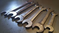 Lot of 6 Vintage VLCHEK Open-end Wrenches V-Shield Logo Old Tools #Vlchek