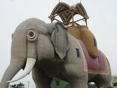 this elephant thingy in New Jersey, i think its called Lucy, lol I went to it when i was like ten