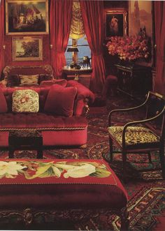 Salon aux velours  ♥ the velvet sofa