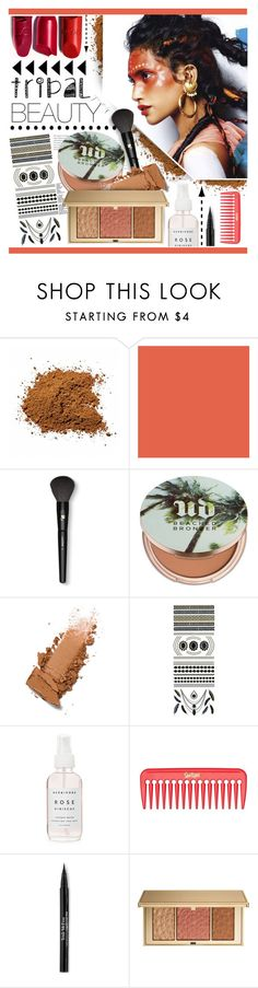 """Tribal Beauty Essentials"" by chocolate-addicted-angel ❤ liked on Polyvore featuring beauty, Lancôme, Urban Decay, Flash Tattoos, Trish McEvoy and Estée Lauder"