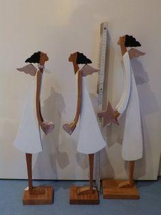 Weihnachtsdeko - Engel - Schutzengel - Holzfigur - mit Stern o.Herz - ein Designerstück von mw-holzkunst bei DaWanda