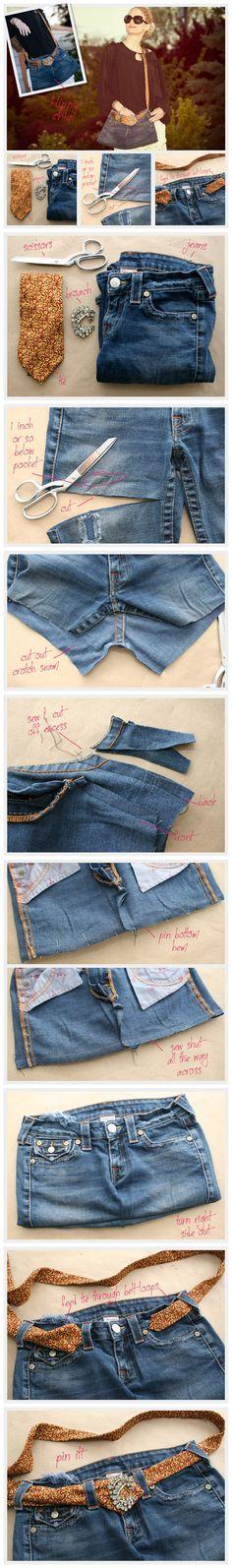 DIY Recycled Jeans Bag Tutorial