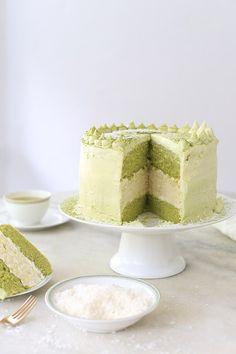 Coconut Matcha Cake