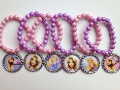 Rapunzel party favor bracelets.. Rapunzel bracelets.. Rapunzel party favors.. Rapunzel party.. Rapunzel.. Tangled party favors by GirlzNGlitter on Etsy https://www.etsy.com/listing/193341678/rapunzel-party-favor-bracelets-rapunzel