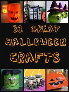 31 Awesome Halloween Crafts. Perfect for for #Halloween or #fall #crafts with your kids! http://www.crunchyfrugalista.com/31-awesome-halloween-crafts/