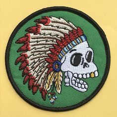 Homer Skull Chief Embroidered Patch