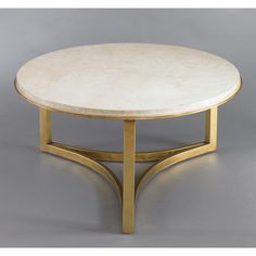 DwellStudio Milo Coffee Table - Travertine (1,935 CAD) found on Polyvore