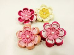 Beautiful Elegant Double Layer Sakura flower hair clippie for both adults and children