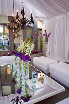 Mirror Tables Black Chandeliers White Lounge Furniture
