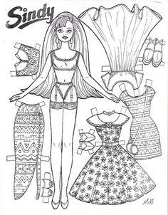 paper doll cutouts printable | printable cutout paper doll sheet ... - Paper Doll Clothes Coloring Pages
