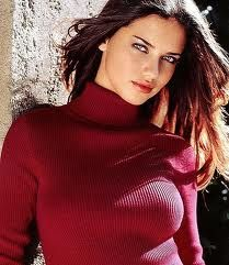Adriana Lima in red for Deep Summer.
