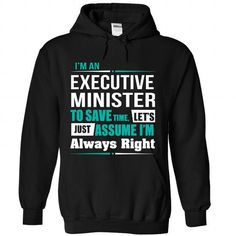Executive Minister - #gift bags #husband gift. SATISFACTION GUARANTEED => https://www.sunfrog.com/States/Executive-Minister-9480-Black-Hoodie.html?68278
