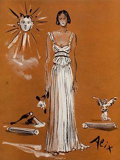 Alix (Germaine Krebs) 1937 Véra Boréa, Evening Gown, Christian Bérard
