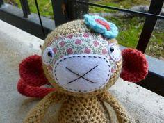 Etsy の Macy the Monkey Crocheted Toy by CurlyTopCorner