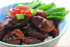 Varkensvlees in sojasaus (babi ketjap)