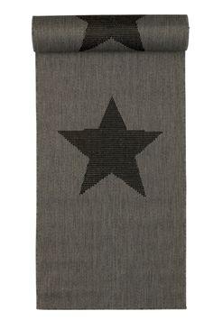 Jotex BUKLEEMATTO, tähtikuvioinen, 67x250 cm Harmaa, Musta  29,99