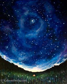 Hey, I found this really awesome Etsy listing at https://www.etsy.com/uk/listing/187972822/night-sky-landscape-painting-tent-under