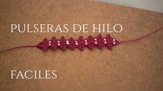 pulsera de hilos  con flores en macrame | friendships bracelets tutorial