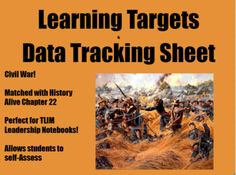 American Civil War Learning Targets/Data Tracking Sheet (H