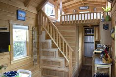 A 200 square feet tiny house on wheels in San Diego, California. Designed by Molecule Tiny Homes.