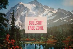 Bullshit Free Zone posters go global - A R - London by Sell!Sell!, via Flickr
