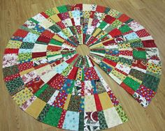 quilted christmas tree skirt pattern | Paper Pieced Christmas Tree Skirt Pattern - kootation.com