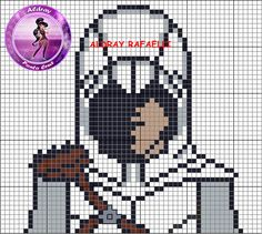 Ezio Auditore da Firenze - Assassin's Creed perler bead pattern - Drayzinha