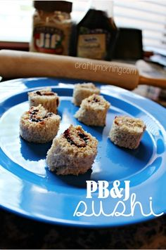 Peanut Butter and Jelly Sushi Snack for Kids #PB&J | CraftyMorning.com