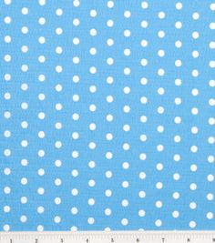Tutti Fruitti Collection- Large Polka Dot Turquoise/White : Fashion Collections : apparel fabric : fabric :  Shop | Joann.com