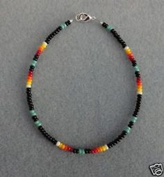 native american beaded bracelets | bl bead anklet ankle bracelet native american ebay native american ...