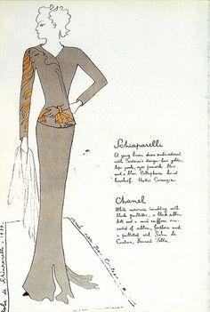 "Jean Cocteau, Elsa Schiaparelli, ""Cocteau"" Evening Jacket, Fall 1937, embroidered by the House of Lesage."