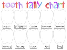 Darling Tooth Tally Chart. I'm definitely going to make this part of my Calendar!
