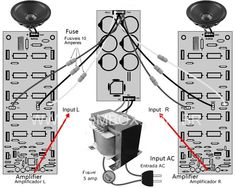 Circuit design of stereo audio amplifier using inexpensive transistor and Part list and PCB design layout and power supply provided. Electronics Projects, Electronic Circuit Projects, Cool Electronics, Subwoofer Box Design, Speaker Box Design, Circuit Board Design, Hifi Amplifier, Electrical Circuit Diagram, Electronic Schematics
