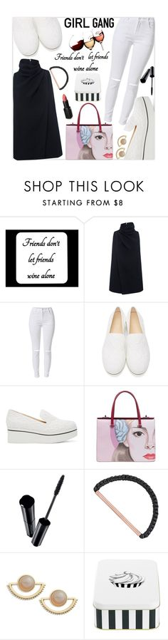 """""""Girl gang"""" by mood-chic ❤ liked on Polyvore featuring C/MEO COLLECTIVE, STELLA McCARTNEY, Prada, Shiseido, Wet n Wild, Eleanor Amoroso, T+C by Theodora & Callum, women's clothing, women and female"""