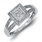 Sterling Silver Diamond Ring - Promise Ring