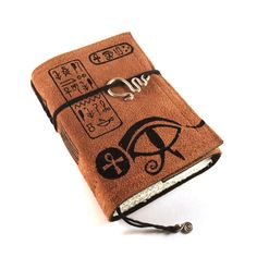 Leather journal Suede Bound Ancient Egypt by Kreativlink on Etsy, $49.00