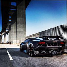 Epic shot of a Lamborghini