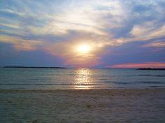 Sun rising over the sea