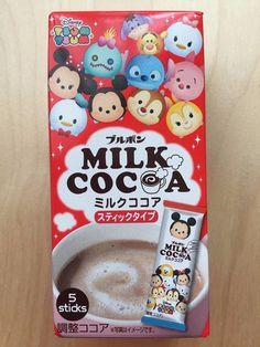 Bourbon, Disney Tsumu Tsumu, Milk Cocoa Powder, 5 sticks, Japan, S10 #Bourbon