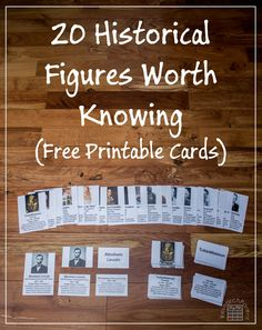 20 Historical Figures Worth Knowing - A Set of Free, Printable Montessori-Style Cards - ResearchParent.com