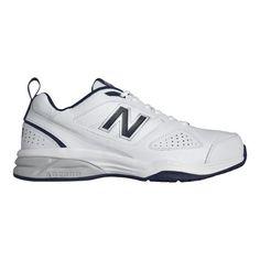 01875f0557d56 Men's New Balance MX623v3 Training Shoe - White/Navy Cross Training Shoes  New Balance Style