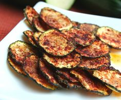 Zucchini Chips with Smoked Paprika #eatcleanpinparty
